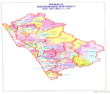 This is the map of kozhikod district