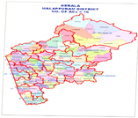 This is the map showing malapuram district