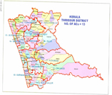 This is the map showing thrissur district