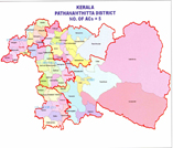 This is the map showing pathanamthitta district