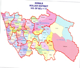 This is the map showing kollam district